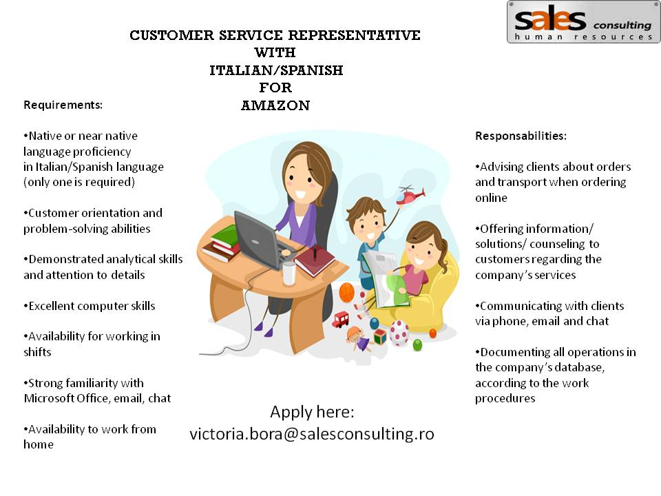 Agent serviciu clienti – home-based – Amazon