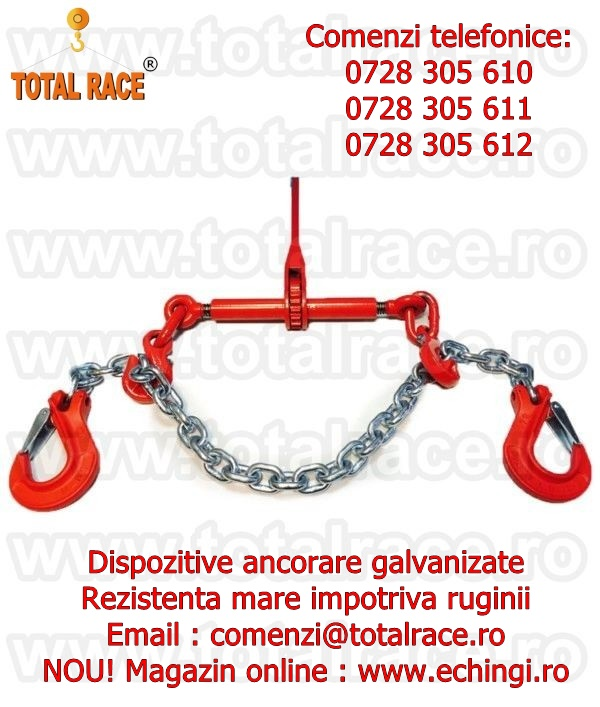 Sistem complet lant ancorare 13 mm 10 tone