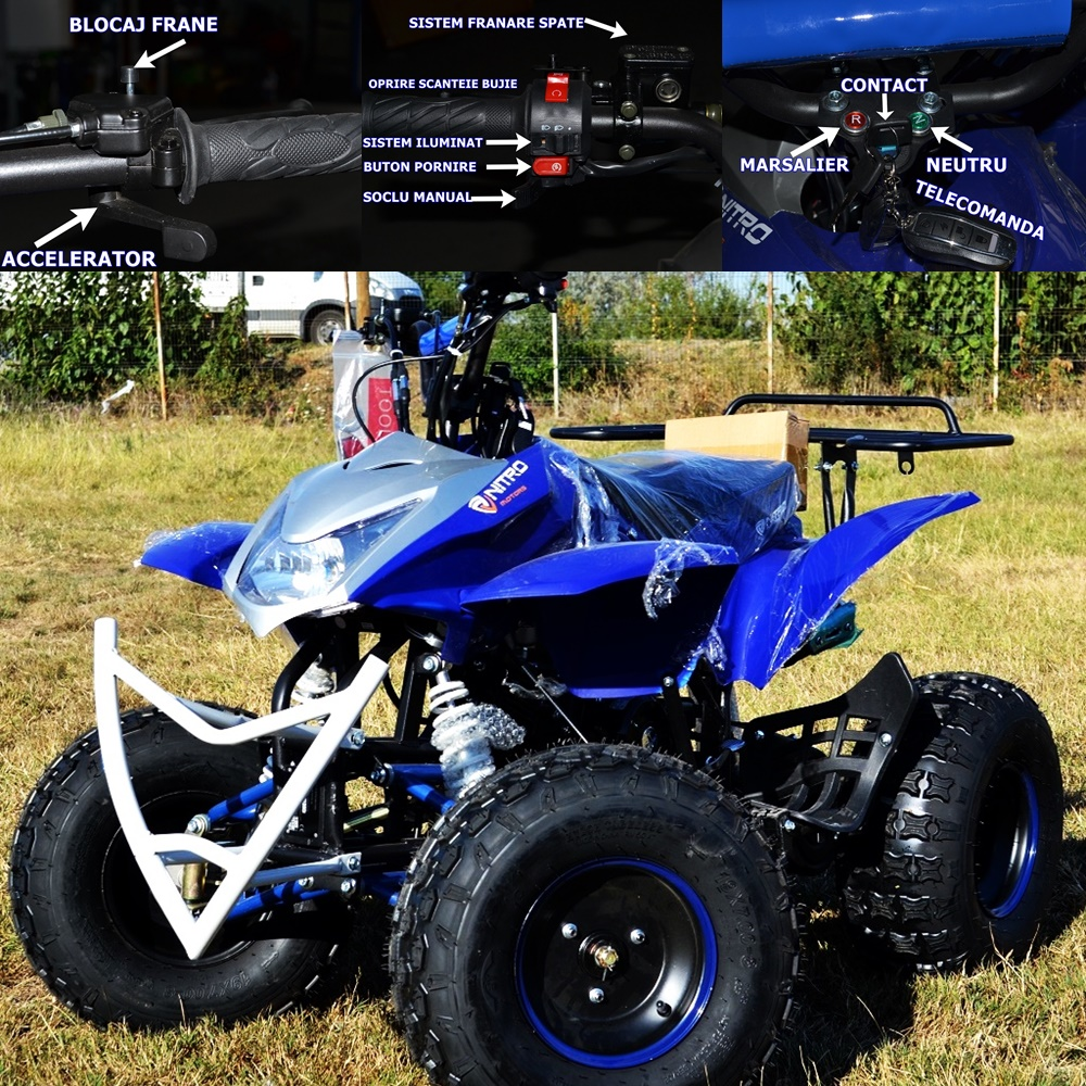 ATV Urban Jumper 125cc  Roti 7  Import Germania